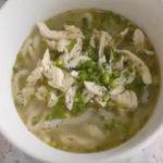 冷たくしても美味しい 鶏塩スープこんにゃくうどん こんにゃくうどんレシピ こんにゃくうどんの春日